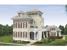 Eplans Cottage House Plan - Third Floor Perfect for Parties - 4491 Square Feet and 5 Bedrooms(s) from Eplans - House Plan Code HWEPL68272