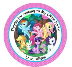 My Little Pony Birthday Party Personalized by TopperoftheWorld