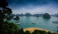 Isla de Titov, Bahía de Ha Long, Quang Ninh, Vietnam
