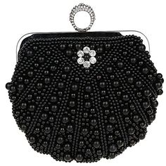 Belsen Womens Beaded Crystal Ring Evening Handbags Black >>> Check out the image by visiting the link.