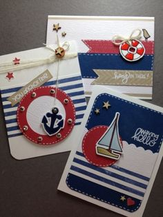 Nautical Card Theme...so on trend right now and so fun.