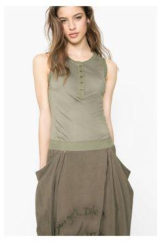 Vestido largo verde | Desigual.com 4092