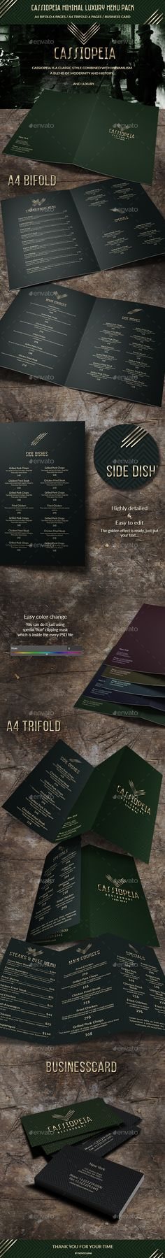 Cassiopeia Minimal Luxury Menu Pack  PSD Template • Download ↓ https://graphicriver.net/item/cassiopeia-minimal-luxury-menu-pack/16824077?ref=pxcr