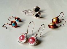 Simple+Wire+Wrapped+Earrings+#howto+#tutorial