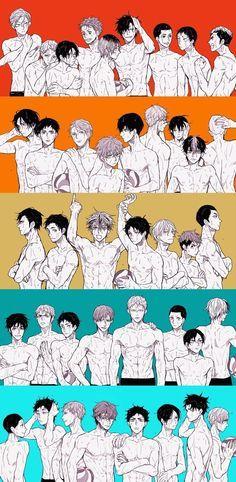 Haikyuu!! Nekoma, Karasuno, Fukurodani, Dateko, Aobajousai   BOKUTO WITH HIS HAIR DOWN I'M HYPERVENTILATING