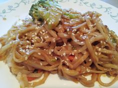 Easy Peanut Noodles - one of our first and most popular recipes. A thick garlicky peanut sauce with fresh veggies and asian rice noodles. The whole meal