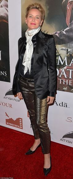 Sharon Stone...love these pants....