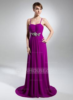 Evening Dresses - $131.49 - A-Line/Princess Sweetheart Sweep Train Chiffon Evening Dress With Ruffle Beading (017015321) http://jjshouse.com/A-Line-Princess-Sweetheart-Sweep-Train-Chiffon-Evening-Dress-With-Ruffle-Beading-017015321-g15321?ver=1