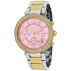 Shop for Michael Kors Women's 'Parker' Chronograph Two-Tone Stainless Steel Watch. Get free delivery On EVERYTHING* Overstock - Your Online Watches Store! Stainless Steel Bracelet, Stainless Steel Watch, Best Watch Brands, Cool Watches, Casual Watches, Online Watch Store, Chronograph, Quartz Watch, Michael Kors Watch