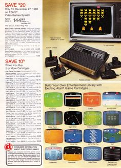 Atari VCS (2600) in the JCPenney Christmas Catalog (1980) Scan...