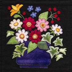 Summertime Sampler Wool Applique