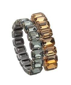 L.K. Designs Crystal Stretch Bracelets