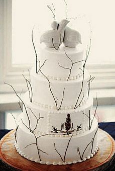 Rustic elegance    Cake design by The Woodstock Inn & Resort