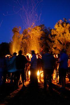 fall campfire