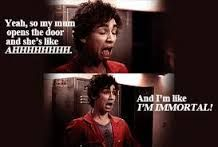 Nathan Misfits I'm immortal! Nathan Misfits, Misfits Tv Show, Series Movies, Movies And Tv Shows, Misfits Quotes, Young Quotes, Robert Sheehan, City Of Bones, Tv Show Quotes