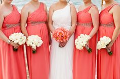 Christina and John's Coral Beach Wedding in Crete by The Bridal Consultant - Coral Bridesmaids
