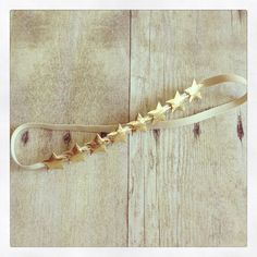 Drop of Honey Bowtique - Nautical 4th of July gold star baby halo headband