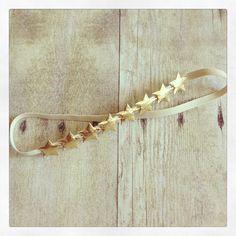 Drop of Honey Bowtique - Nautical 4th of July gold star baby halo headband