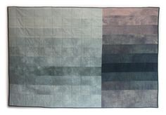FRACTURE Quilt modern geometric grey handdyed by FirstShelter