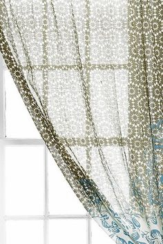 Magical Thinking Floral Cluster Curtain-Ubrban Out