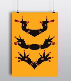 Poster for Bharatnatyam Mudras by alisha coelho pereira, via Behance