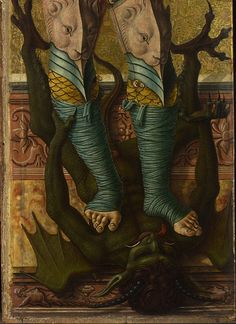 Saint Michael, detail - Carlo Crivelli (about about 1476 tempera and gold on panel 91 x 26 cm The National Gallery, London Saint Michael, St. Michael, Kandinsky, Close Up Art, Spiritual Warrior, Catholic Art, Roman Catholic, Archangel Michael, Angels And Demons