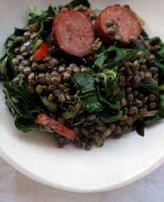 Lentils with Fennel, Kale, and Sausage, from Everybody Likes Sandwiches