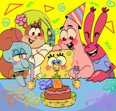 "jokesitos-art: "" Collab with the beautiful I did the lineart and she the coloring! This is for the birthday of existence of Spongebob! Spongebob Tumblr, Wie Zeichnet Man Spongebob, Spongebob Drawings, Spongebob Memes, Spongebob Squarepants, Cartoon Drawings, Cartoon Art, Spongebob Patrick, Cartoon Wallpaper"