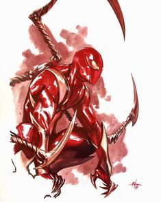 Iron Spider by Gabriel Dell Otto Marvel Venom, Marvel Art, Marvel Dc Comics, Marvel Heroes, Marvel Avengers, Spiderman Art, Amazing Spiderman, Venom Spiderman, Iron Spider Suit