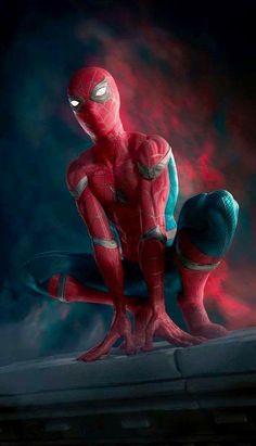 Spiderman: Homecoming fan art by esteban ariza on ArtStation Marvel Comics, Marvel Avengers, Comics Spiderman, All Spiderman, Films Marvel, Amazing Spiderman, Marvel Characters, Marvel Heroes, Marvel Cinematic