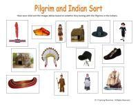 Social studies lesson regarding Pilgrims and the Indians