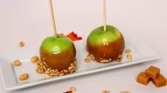 Caramel Apples Recipe - Laura in the Kitchen - Internet Cooking Show Starring Laura Vitale