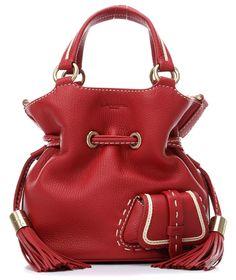 wardow.com - #Lancel, Premier Flirt Beuteltasche Leder rot 21 cm, #marsala, #trend
