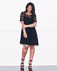 Lovedrobe Grid Mesh Swing Dress UK18 Black rrp 43 DH076 EE 03  fashion   clothing · Curvy Girl FashionPlus Size ... 27dc62498628