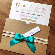 Convite de casamento com a história dos noivos | Abelha Design - Convites de…