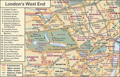 map of london west end | This map shows the West End of London, including the City of ...