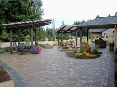Some great outdoor living can be had at this home.