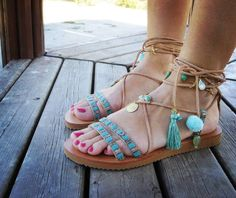 Greek Leather Sandals Gold Sandals Boho Sandals Boho by RiRiPoM