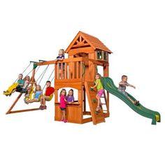 Backyard Discovery Atlantis All Cedar Playset-65210com - The Home Depot