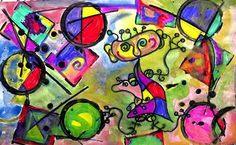 primary colors art lesson | media Miro! This lesson would be great for primary/secondary color ...