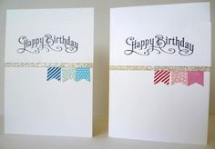 I STAMPED!!!  Using the stamp set Banner Blast available for Stampin' Up! Sale-A-Bration from January 28th.