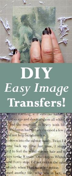 DIY Easy Image Transfers with Heather Tracy for The Graphics Fairy! Such a great Technique!