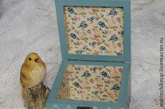 """Caixões feitos à mão.  Mestres Fair - caixão handmade """"Lilac e pássaro.""""  Handmade."""