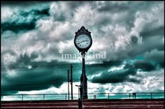 """""""Revere Beach Clock"""" by Mirza Causevic, Boston // Revere Beach, Massachusetts // Imagekind.com -- Buy stunning, museum-quality fine art prints, framed prints, and canvas prints directly from independent working artists and photographers."""