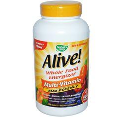 Nature's Way, アライブ マルチビタミン 超強力・鉄無配合 180錠 - 含有量が多いので1日に1錠だけ飲んでいます