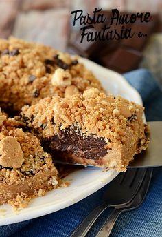 Crumble di biscotti con crema al cacao