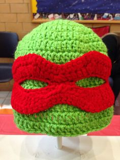 3c2115fbf8c Crochet Ninja Turtle Inspired Hat With Removeable Mask