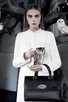 Cara Delevigne joined forces with luxury British label Mulberry to produce the brand's AW campaign.
