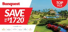 Top Pick: Save up to $1720 per couple per week! http://www.sunquest.ca/en/dreams-hotels-resorts-deals