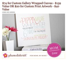 Plum District - Remember the Day Personalized Canvas Deal